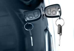 DS Image - Keys in Car Door - Grey - Large Format