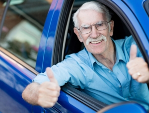 DS Image - Elderly Passenger Thumbs Up - LARGE FORMAT